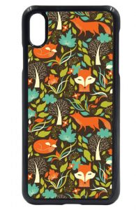 Cute Fox Foxes Hipster Repeat Pattern Design Hard Case Cover Fits Apple iPhone